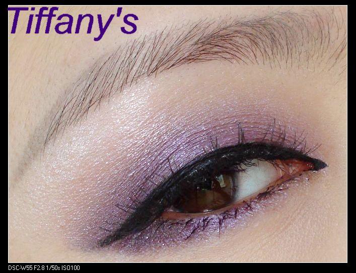 ysl干湿两用四色眼影13号盘画法1---有些小高调的紫色浪漫眼妆