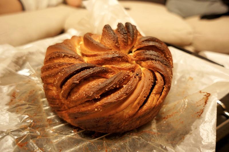 肉桂花环面包 - 桃子小白的日志