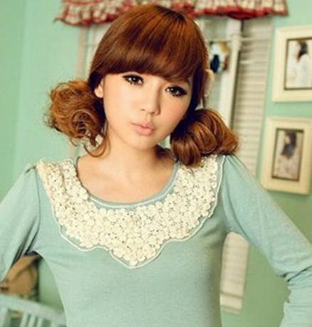 韩式可爱女生发型扎法