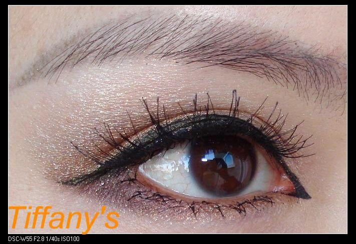 ysl干湿两用四色眼影20号盘画法1---欧式画法的金棕眼窝妆!