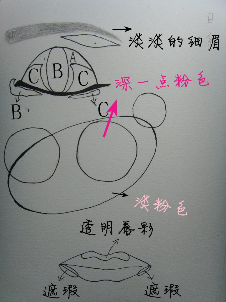 [彩妆]步骤分解:情人节日系妆容+手绘part1