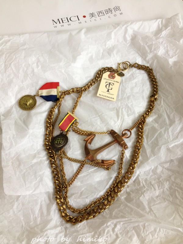 头像 逛逛/做旧感金色链条,配有船锚,印第安人头像牌,每一个元素都是...