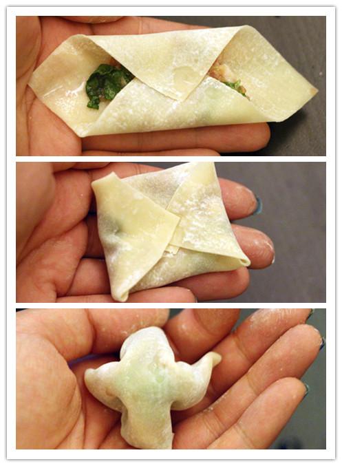 馄饨的6种花样包法及2种吃法|美食-onlylady论坛