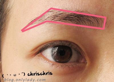 韩系黑粗眉的画法,简单四步骤