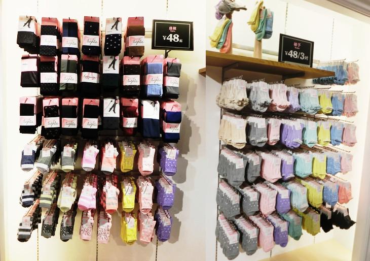 最新袜子店铺装修图片