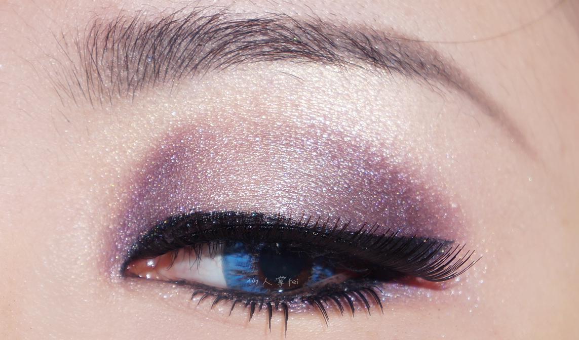 画眉毛-冰雪奇缘 紫色眼妆图片
