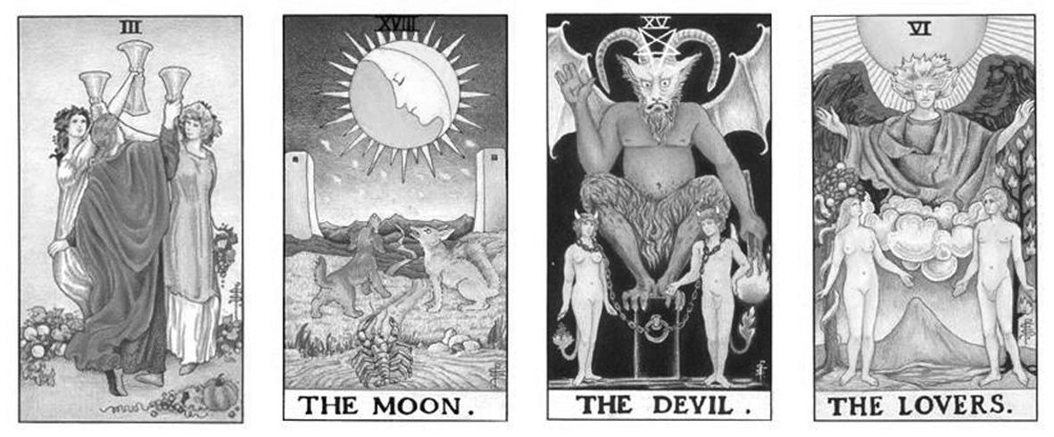 运用直觉于塔罗牌占卜中预测爱情中的三角恋的经验