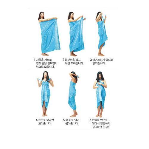 沙滩巾的系法图解