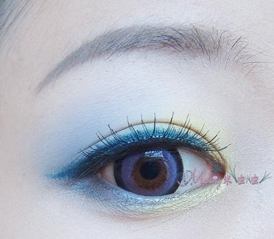 【眼妆附过程】撞色眼彩的过渡画法示范