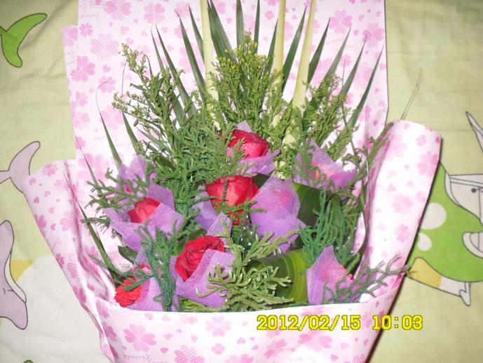 情人节的第一束玫瑰花