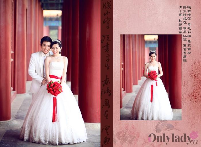 中西结合,古典中国风,我的婚纱照,美美秀一会咯图片