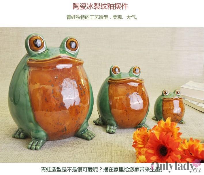 瓷器青蛙头像