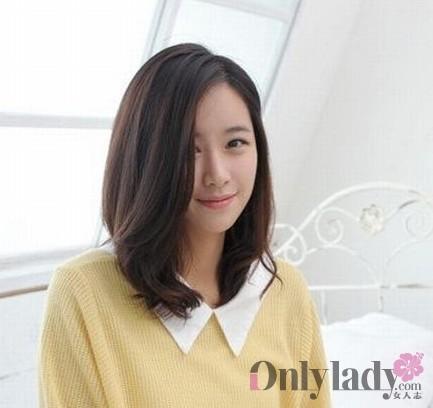 圆脸胖脸的女生发型,刘海演绎最时尚动态图片