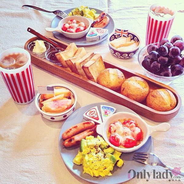 一个日本妈妈的早餐集截取16张饕餮盛宴啊~