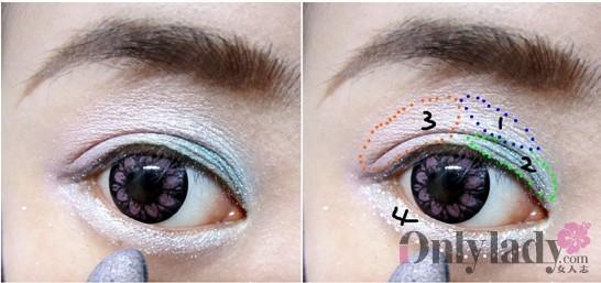 浓妆眼睛画法步骤图片