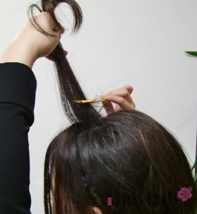 创意发型diy:中发编bob头发型教程