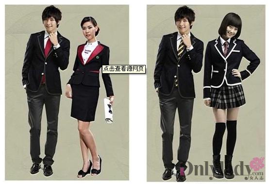 日本和韩国的校服和中国目前的校服还是有